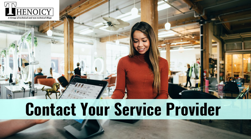 Contact your service provider - Canon Printer Not Printing Text