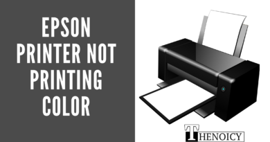 Epson Printer not printing color