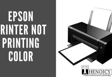 Epson Printer not printing color