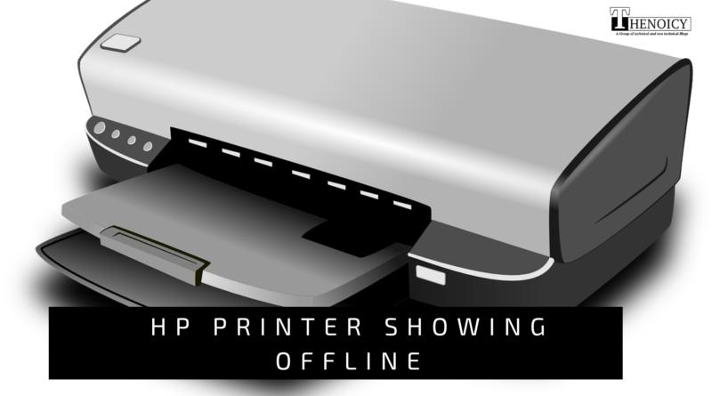 HP Printer Showing Offline