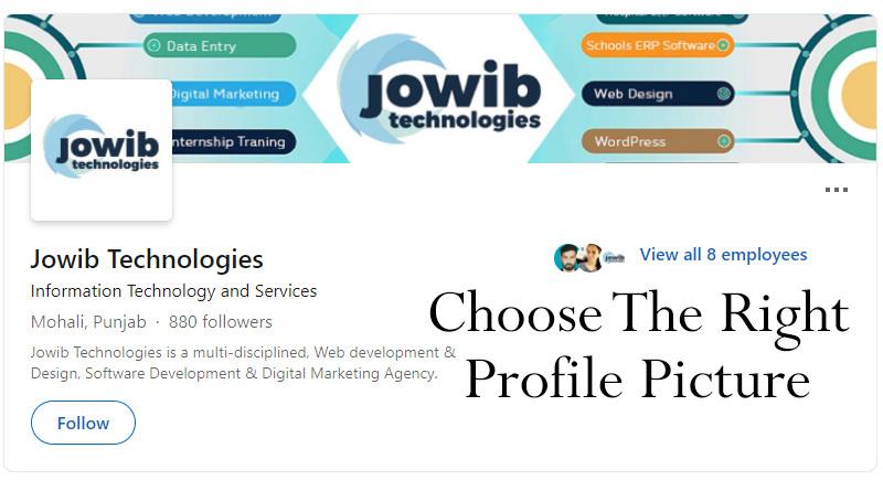 Choose the right profile picture